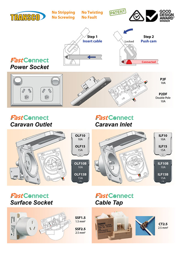 SparkyMall FastConnect Plug and Sockets